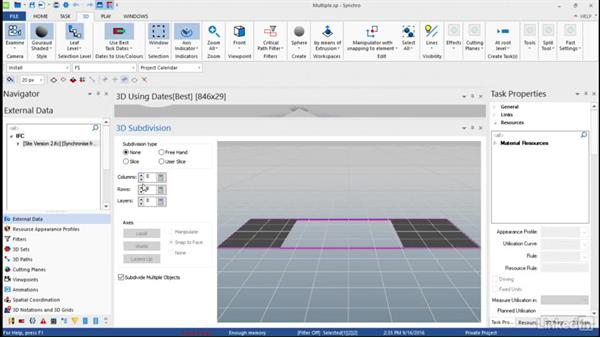 Subdividing multiple objects: Synchro Essential Training