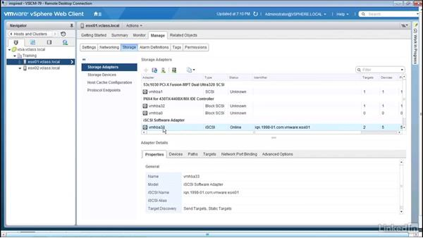 Configuring iSCSI CHAP: Configuring and Administering Advanced VMware vSphere Storage