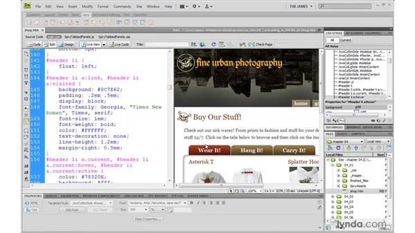 CSS workflows in Dreamweaver: Dreamweaver CS4 with CSS Essential Training