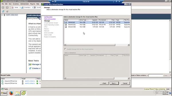 Create a new virtual machine: Configuring and Administering Advanced VMware vSphere Storage