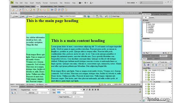 Understanding Dreamweaver's CSS visual aides: Dreamweaver CS4 with CSS Essential Training