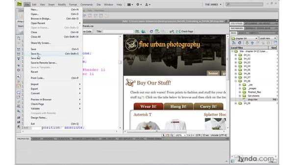 Working with Live view: Dreamweaver CS4 with CSS Essential Training