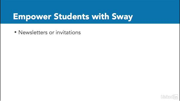 Empower students with Sway: Office 365 for Educators