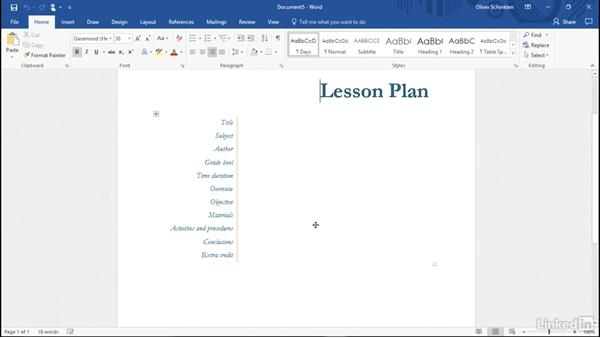 Use Word templates: Office 365 for Educators
