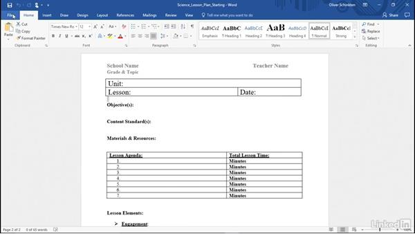Create your own templates: Office 365 for Educators