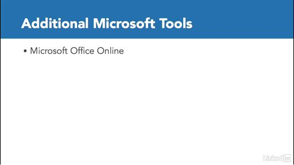 Additional Microsoft tools: Office 365 for Educators