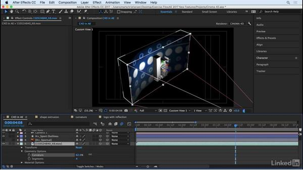 Learn what the CINEMA 4D renderer can do: After Effects CC 2017: New Features