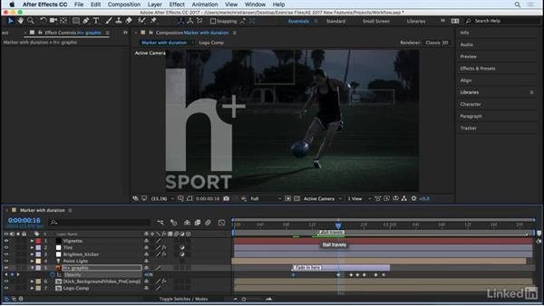 Set markers with durations: After Effects CC 2017: New Features