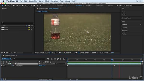 Freeze on the last frame: After Effects CC 2017: New Features