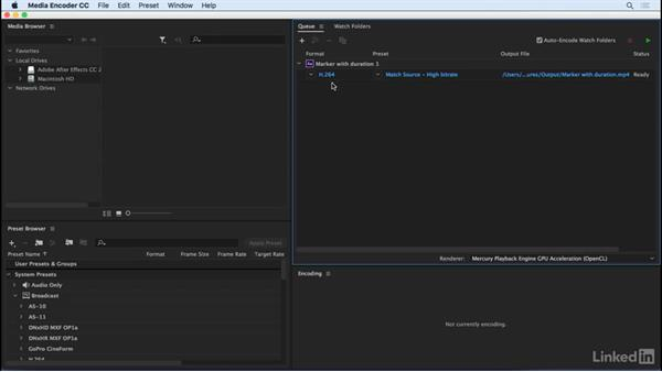 Queue in Adobe Media Encoder with one click: After Effects CC 2017: New Features