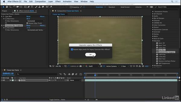 Upgrade legacy blurs automatically: After Effects CC 2017: New Features