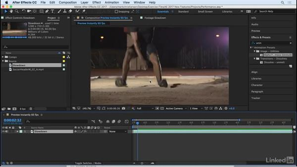 Preview footage instantly: After Effects CC 2017: New Features