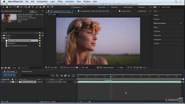 Work with more footage formats: After Effects CC 2017: New Features