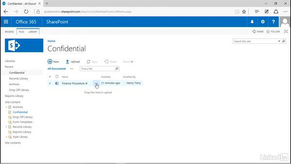 Assign unique permission to a record: Manage Compliance in SharePoint