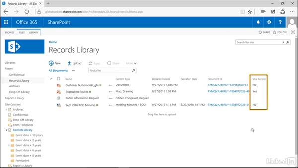 Track vital records: Manage Compliance in SharePoint