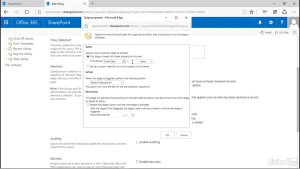 Write an information management policy: Manage Compliance in SharePoint
