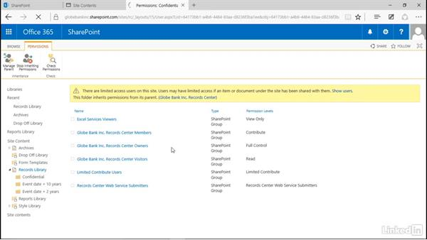 Create security folders: Manage Compliance in SharePoint
