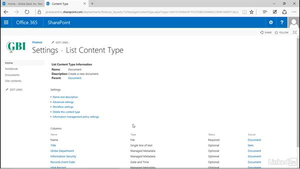 Set column default value settings: Manage Compliance in SharePoint