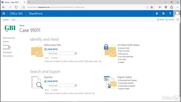 When to use an eDiscovery site collection: Manage Compliance in SharePoint