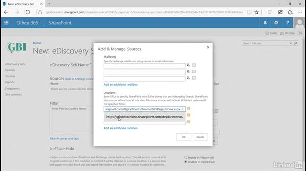 Create a case: Manage Compliance in SharePoint