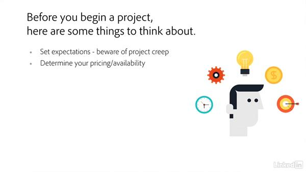 Things to think about during this course: Freelance UX: Managing Projects
