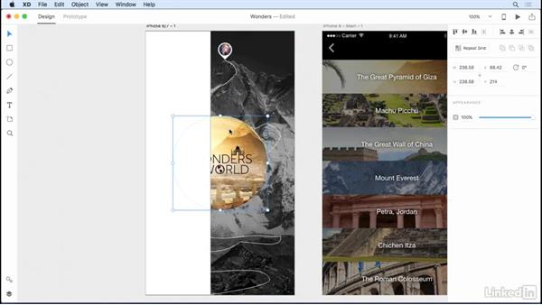 Using gradients: Adobe XD CC: New Features
