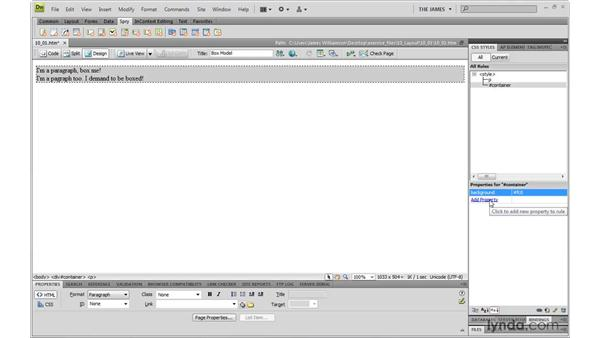 Box model review: Dreamweaver CS4 with CSS Essential Training