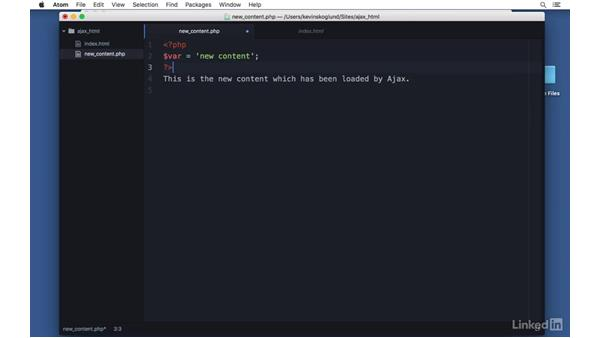Respond with HTML partials: Ajax with PHP