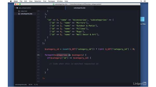 Update page on change: Ajax with PHP