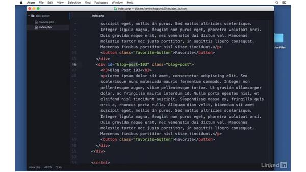 Create a favorite button: Ajax with PHP