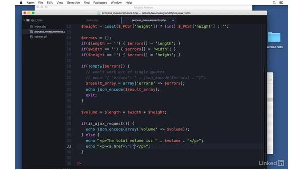 Allow fallback to HTML: Ajax with PHP