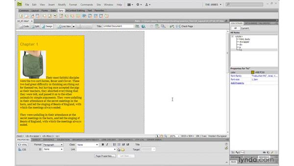 Understanding absolute positioning : Dreamweaver CS4 with CSS Essential Training