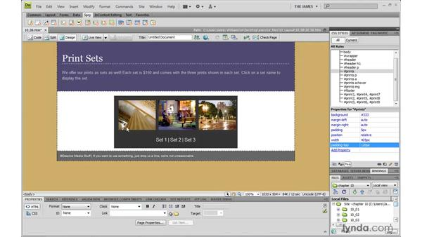 Understanding the AP Elements panel: Dreamweaver CS4 with CSS Essential Training