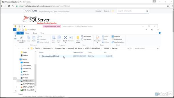 Setting up the database: Installing and Administering Microsoft SQL Server 2016