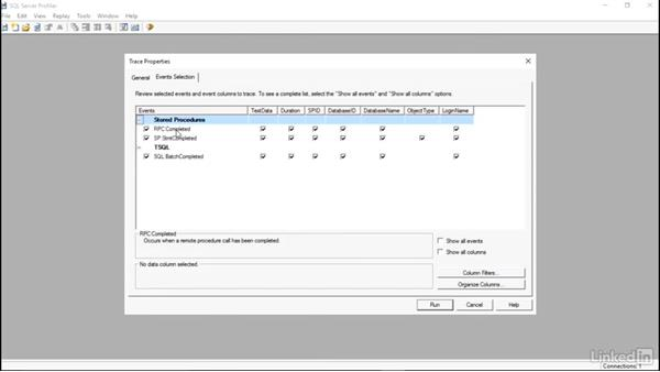 Using the profiler: Installing and Administering Microsoft SQL Server 2016