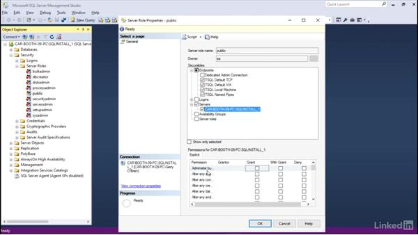 Manage roles: Installing and Administering Microsoft SQL Server 2016
