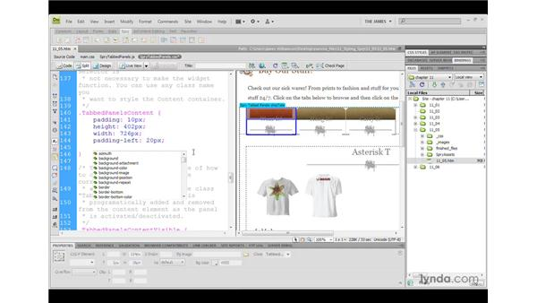 Styling Spry widgets: Dreamweaver CS4 with CSS Essential Training