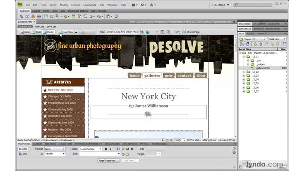 Creating print style sheets: Dreamweaver CS4 with CSS Essential Training