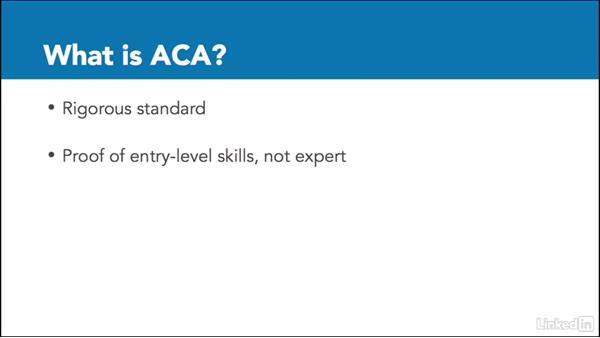 What is ACA certification?: Adobe Certified Associate Prep: InDesign