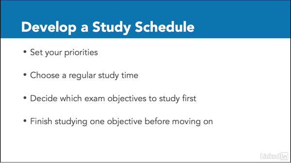 Develop a study schedule: Adobe Certified Associate Prep: InDesign