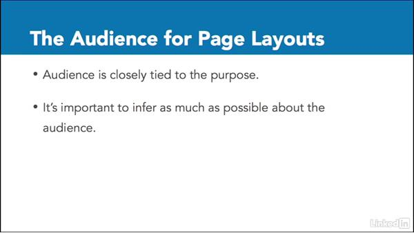 Identify the purpose and audience for page layouts: Adobe Certified Associate Prep: InDesign