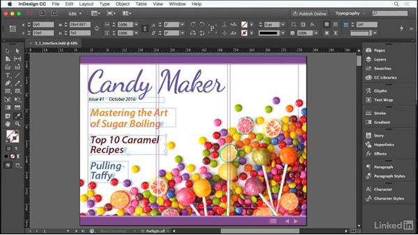 The user interface: Adobe Certified Associate Prep: InDesign