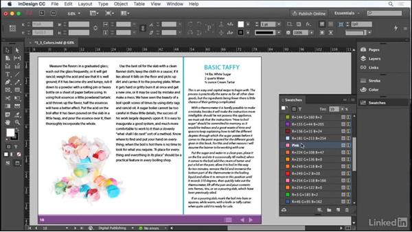 Work with colors: Adobe Certified Associate Prep: InDesign