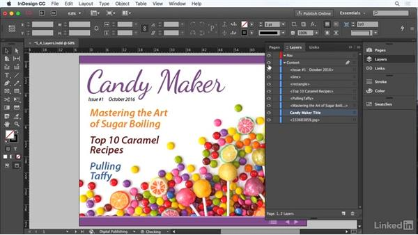 Work with layers: Adobe Certified Associate Prep: InDesign