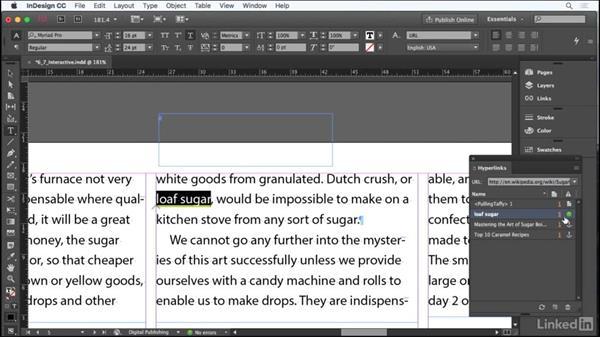 Add interactive elements: Adobe Certified Associate Prep: InDesign
