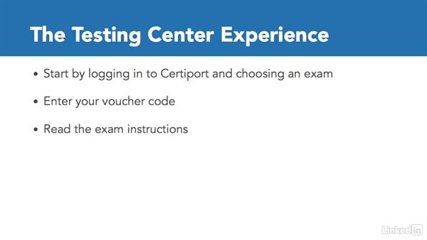 The testing center experience: Adobe Certified Associate Prep: InDesign