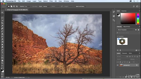 A tour of the Photoshop interface: Photoshop CC 2017 Essential Training: The Basics