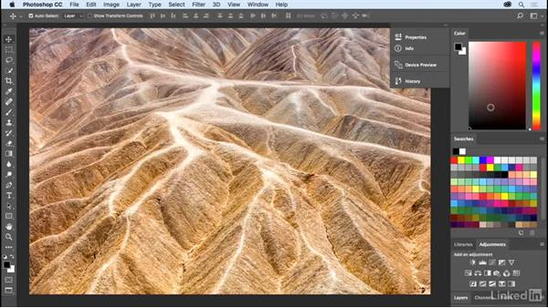 Arranging the panels you use most often: Photoshop CC 2017 Essential Training: The Basics