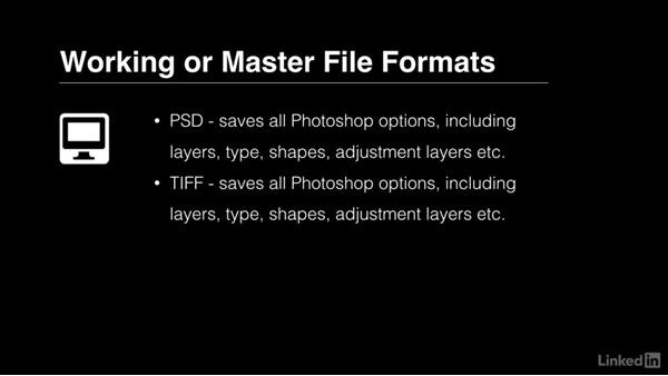Understanding file formats: Photoshop CC 2017 Essential Training: The Basics