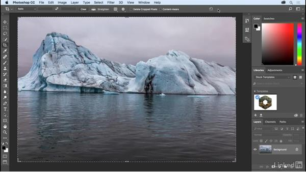 Straightening a crooked image: Photoshop CC 2017 Essential Training: The Basics